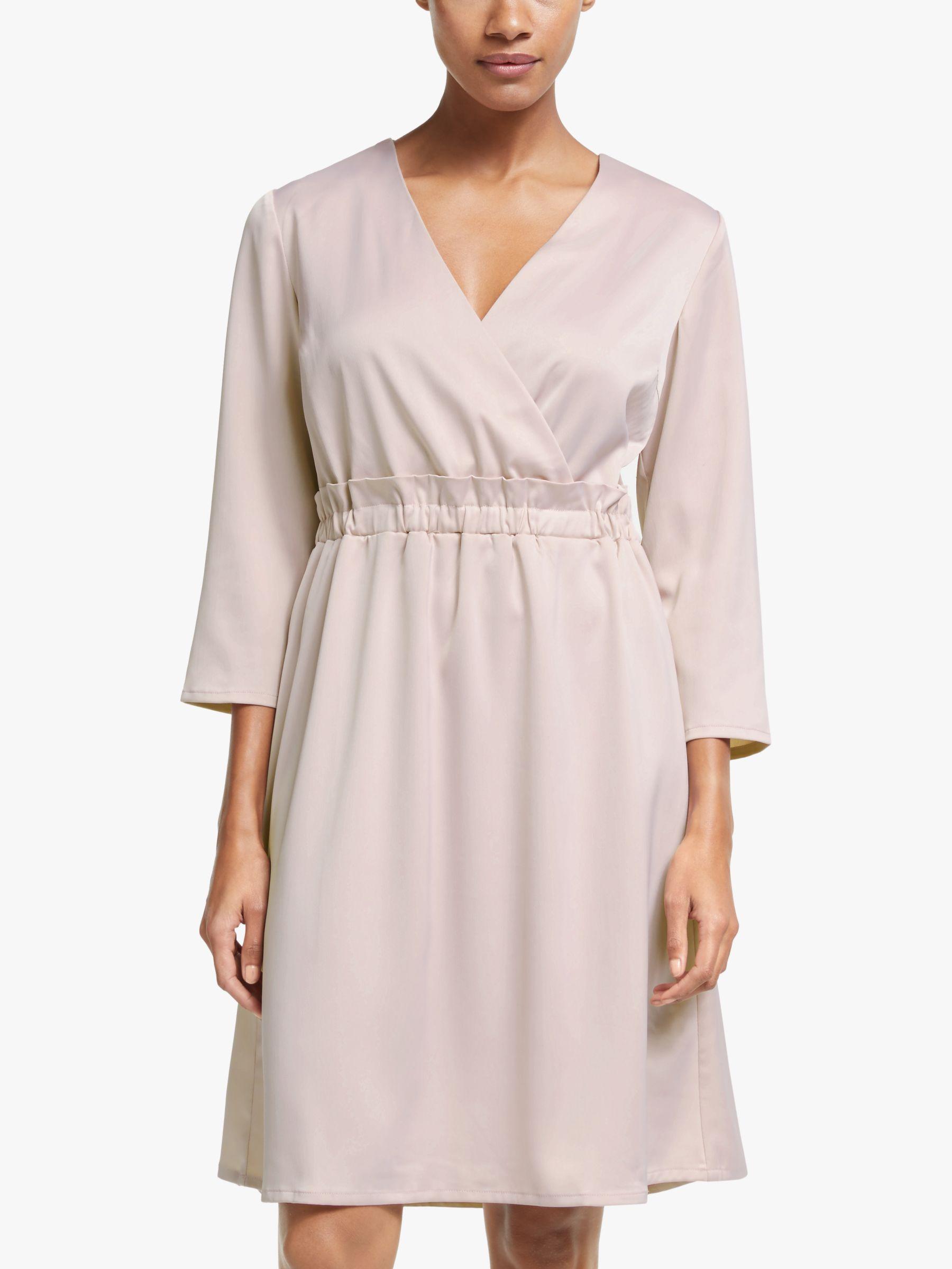 Y.a.s Y.A.S Line Wrap Neck Dress, Lilac