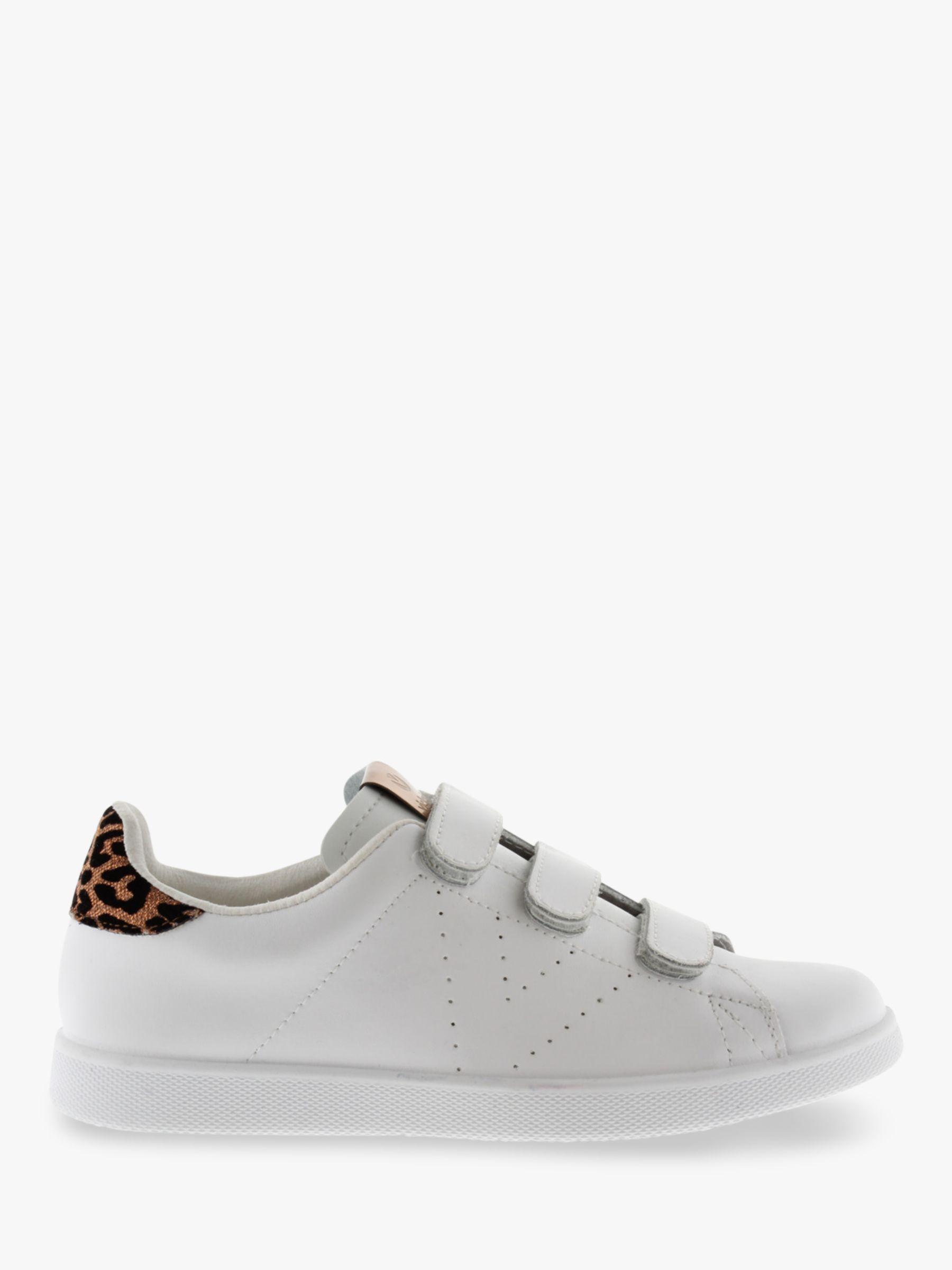 Victoria Shoes Victoria Shoes Tenis Piel Leather Trainers, White/Leopard Print