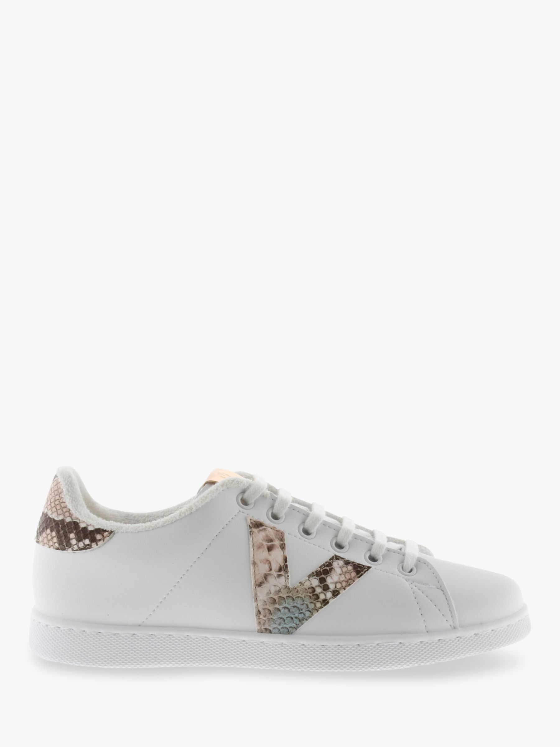Victoria Shoes Victoria Shoes Tenis Serpiente Snake Print Trainers, White/Nude
