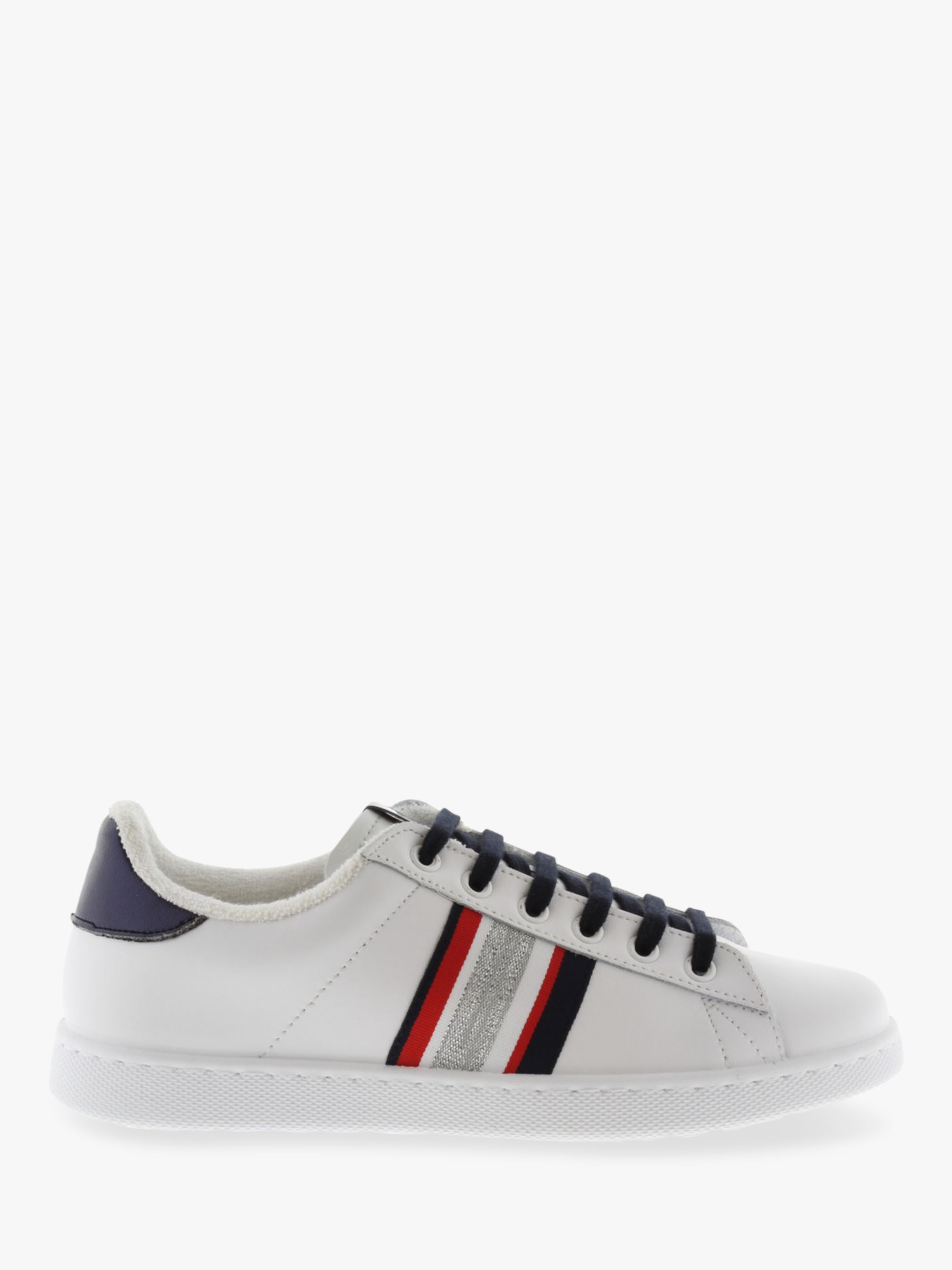 Victoria Shoes Victoria Shoes Tenis Banda Leather Trainers, White/Navy