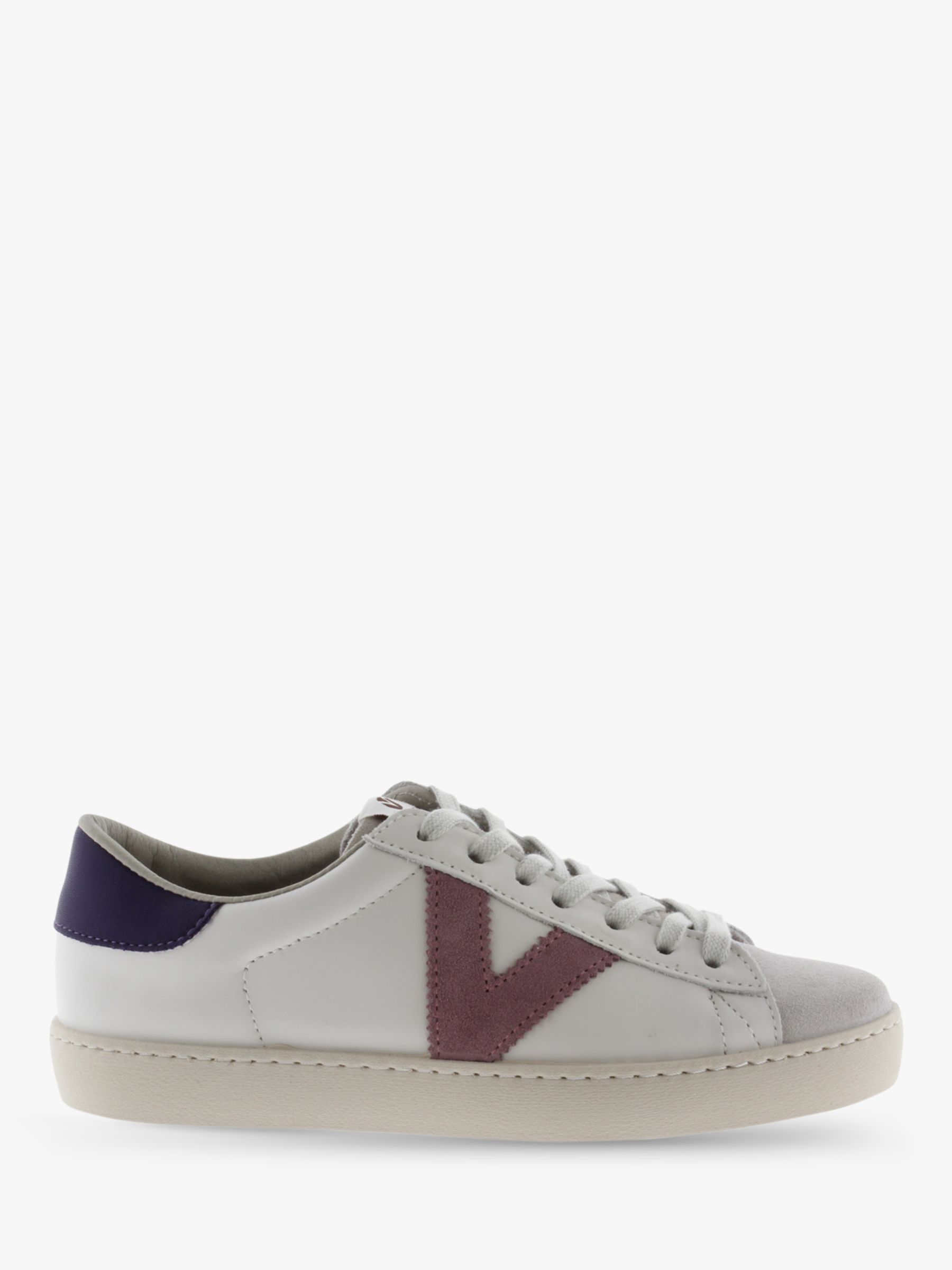 Victoria Shoes Victoria Shoes Berlin Contrast Detail Low Top Trainers, White/Multi