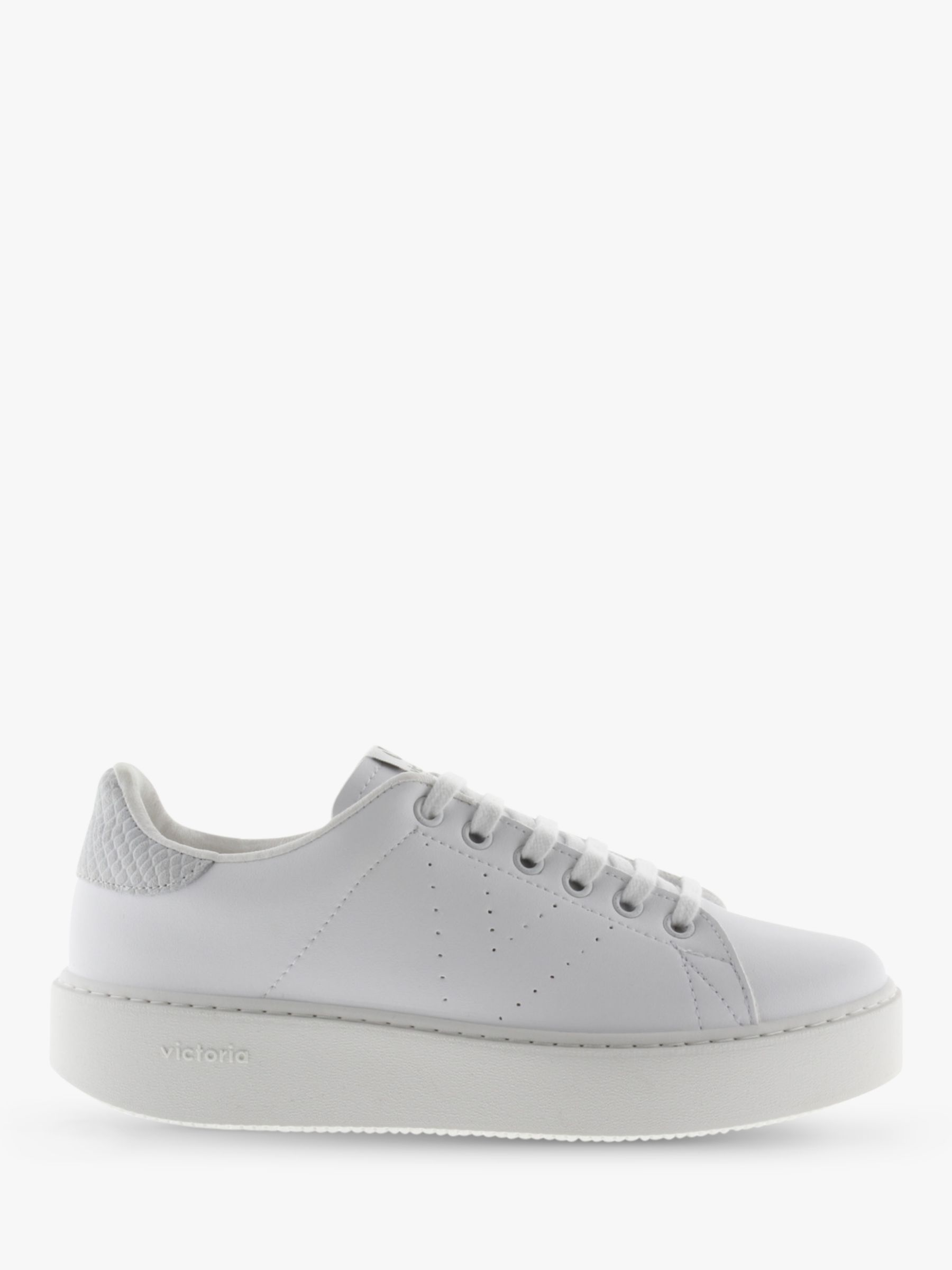 Victoria Shoes Victoria Shoes Utopia Flatform Lace Up Trainers, White