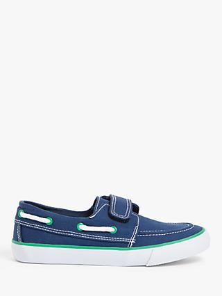 John Lewis & Partners Children's Casual Boat Shoes, Navy