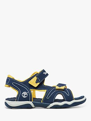 Timberland Children's Adventure Seeker Riptape Sandals, Navy/Yellow