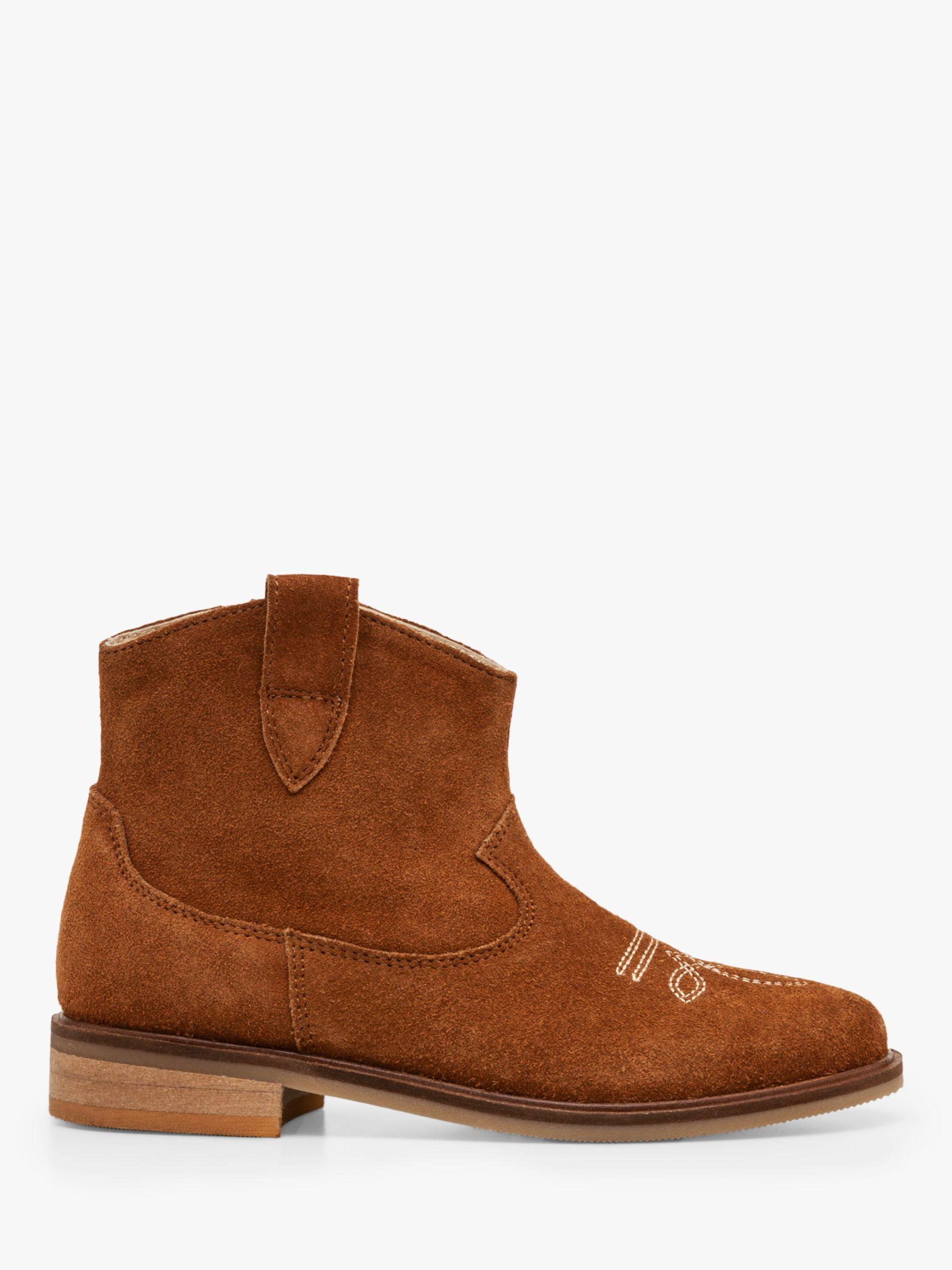 Mini Boden Mini Boden Suede Western Boots, Tan