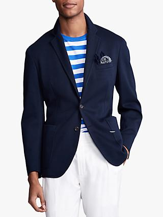 Polo Ralph Lauren Knit Mesh Cotton Blazer, Navy