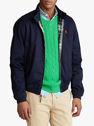 Polo Ralph Lauren Barracuda Cotton Twill Lined Jacket, Aviator Navy