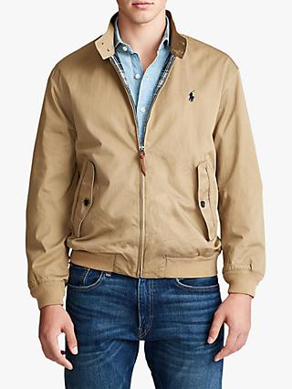 Polo Ralph Lauren Barracuda Cotton Twill Lined Jacket, Luxury Tan