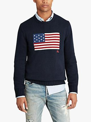 Polo Ralph Lauren USA Flag Crew Neck Sweater