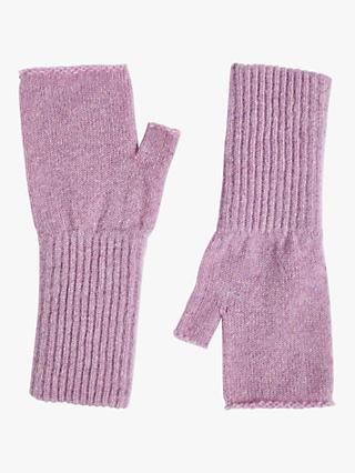 Jigsaw Lambswool Fingerless Mittens