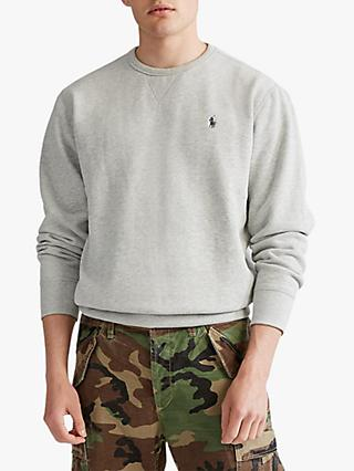 Polo Ralph Lauren Fleece Crew Neck Sweatshirt, Andover Heather