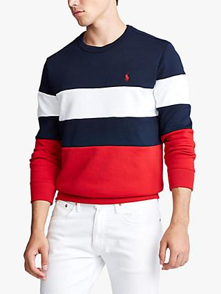 Polo Ralph Lauren Stripe Sweatshirt, Aviator Navy/Multi