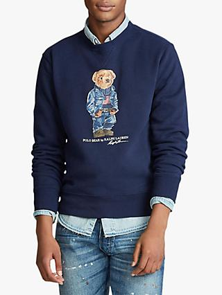 Polo Ralph Lauren Signature Bear Fleece Sweatshirt, Cruise Navy