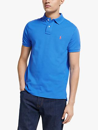 Polo Ralph Lauren Custom Slim Fit Polo Shirt, Colby Blue
