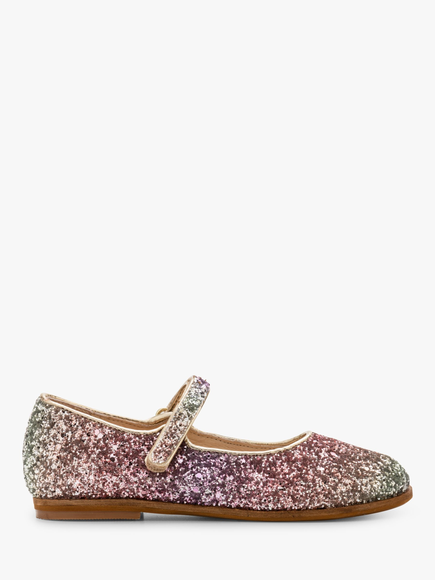 Mini Boden Mini Boden Children's Party Glitter Mary Jane Shoes, Provence Dusty Pink