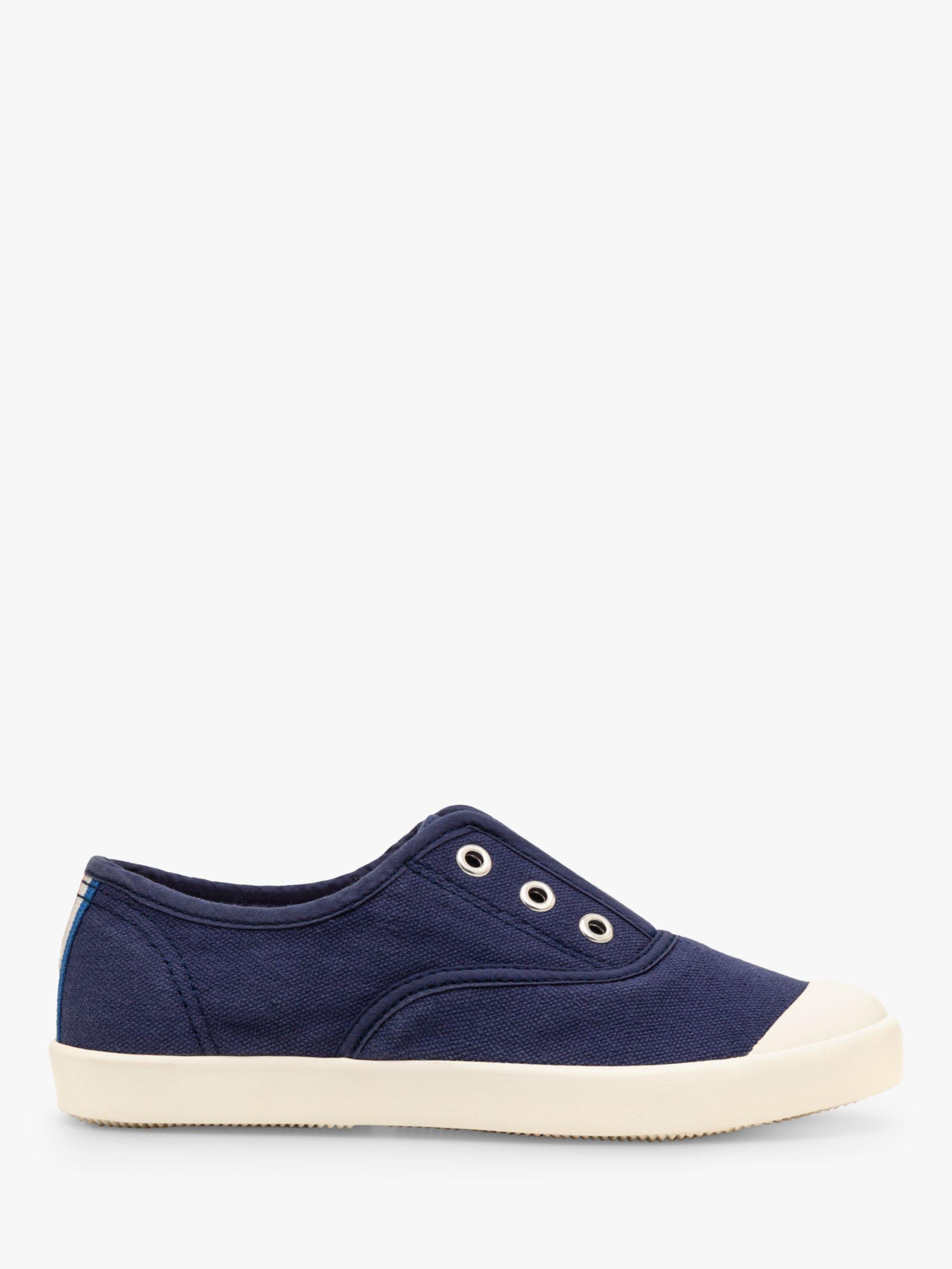 Mini Boden Mini Boden Children's Laceless Canvas Shoes, College Navy
