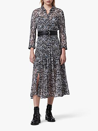 AllSaints Eley Mara Shirt Dress, Blue