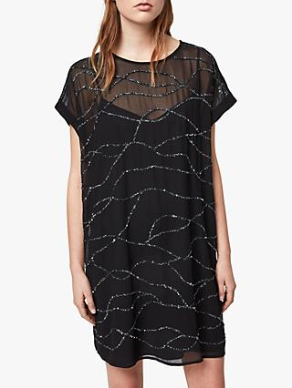 AllSaints Loran Dress, Black