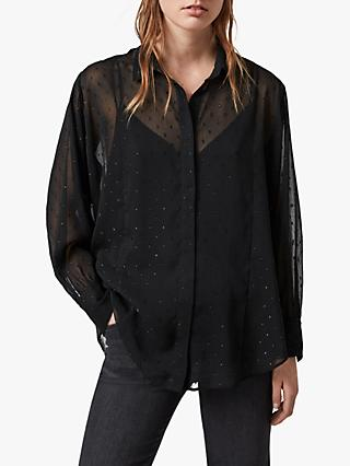 AllSaints Harriet Shirt, Black