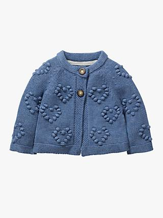 Mini Boden Baby Textured Heart Cardigan