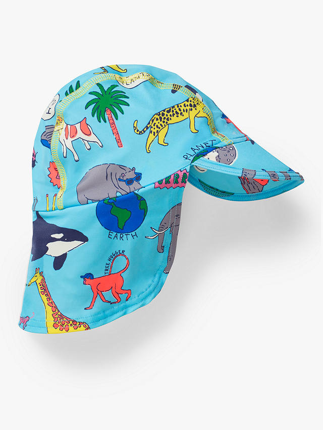 Buy Mini Boden Baby Sustainable Sun-Safe Swim Hat, Multi, 3-6 months Online at johnlewis.com