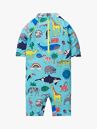 Mini Boden Baby Sustainable Surf Suit, Blue