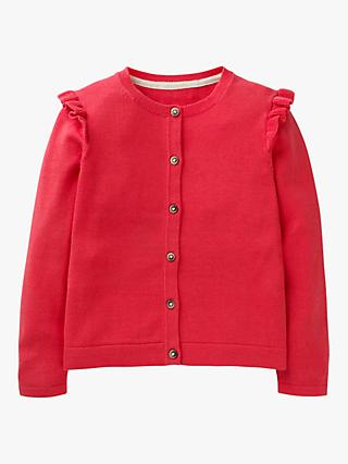 Mini Boden Girls' Everyday Cardigan, Red