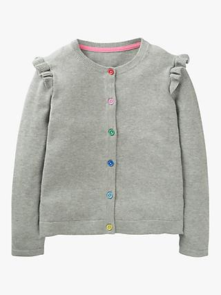 Mini Boden Girls' Everyday Cardigan, Grey