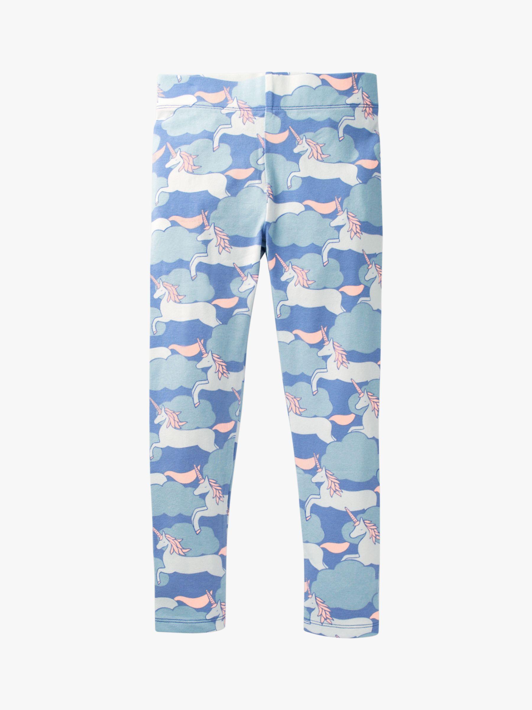 Mini Boden Mini Boden Girls' Fun Unicorn Print Leggings, Blue