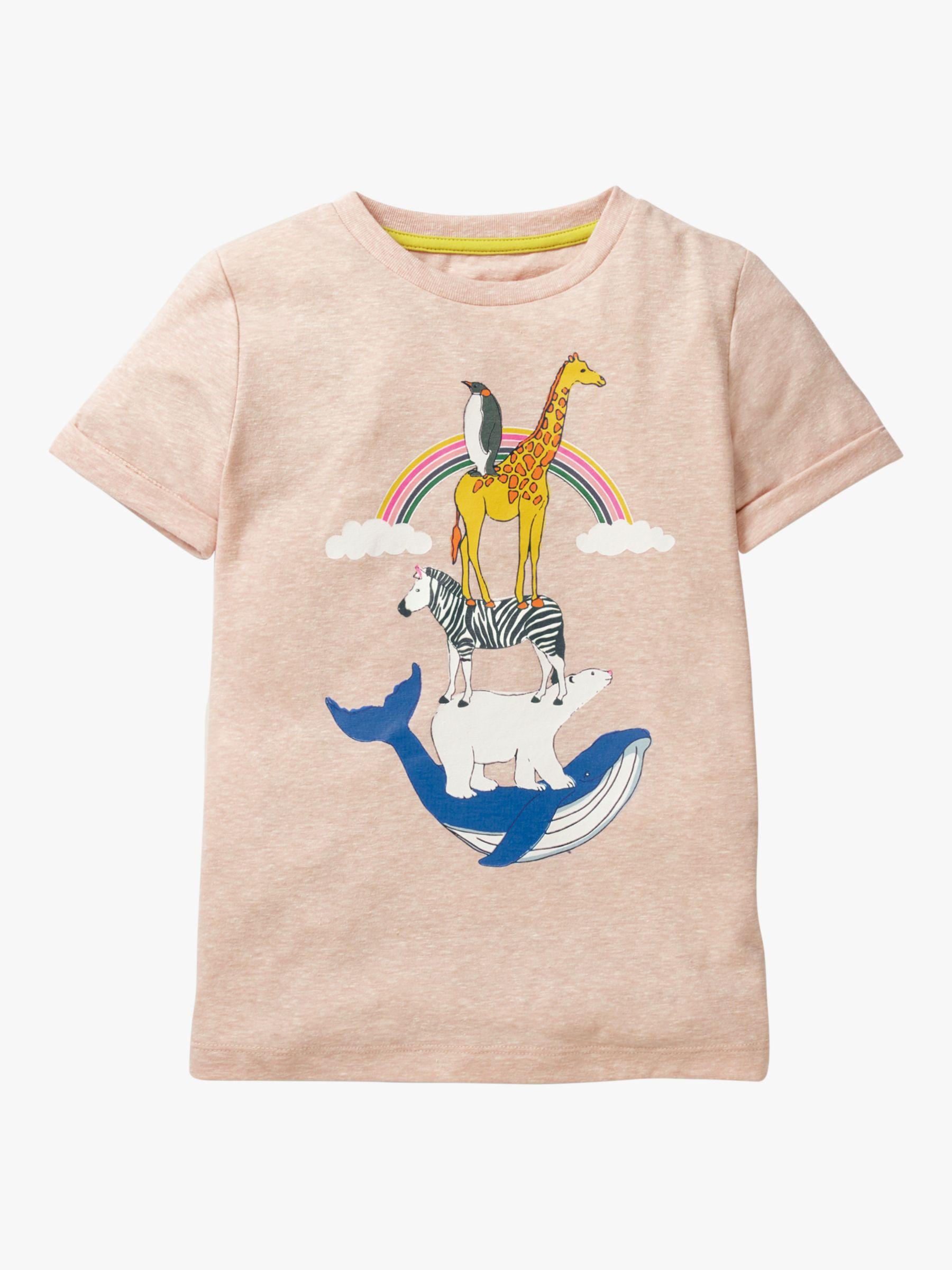 Mini Boden Mini Boden Girls' Around The World T-Shirt, Provence Dusty Pink