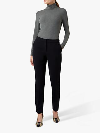 Hobbs Petite Tapered Mina Trousers, Navy