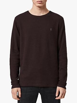 AllSaints Muse Long Sleeve T-Shirt, Mahogany Red