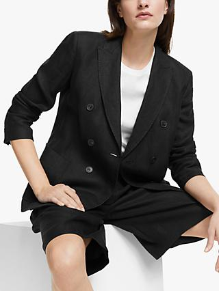Weekend MaxMara Finnici Linen Jacket, Black