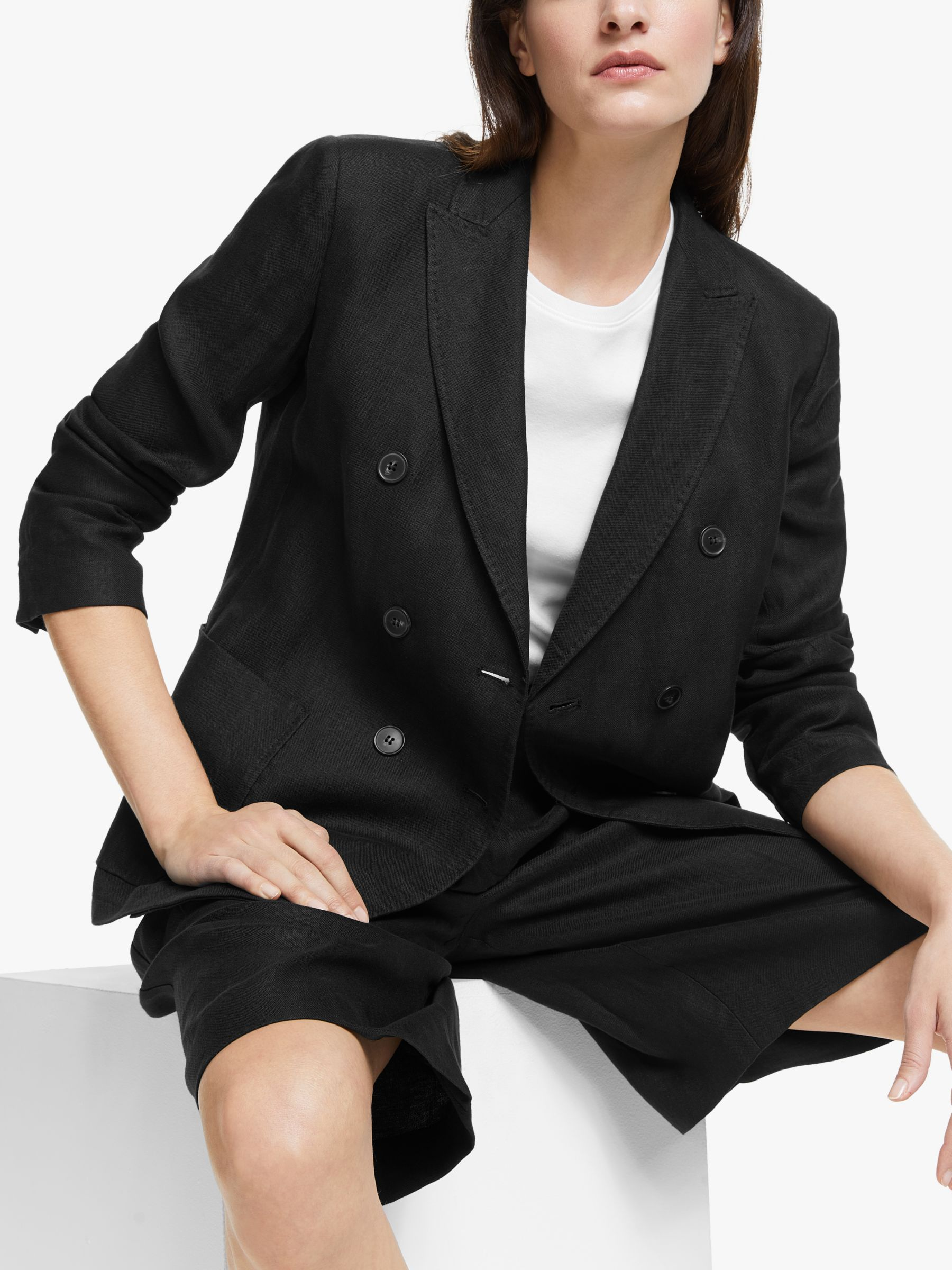 WEEKEND MaxMara Weekend MaxMara Finnici Linen Jacket, Black