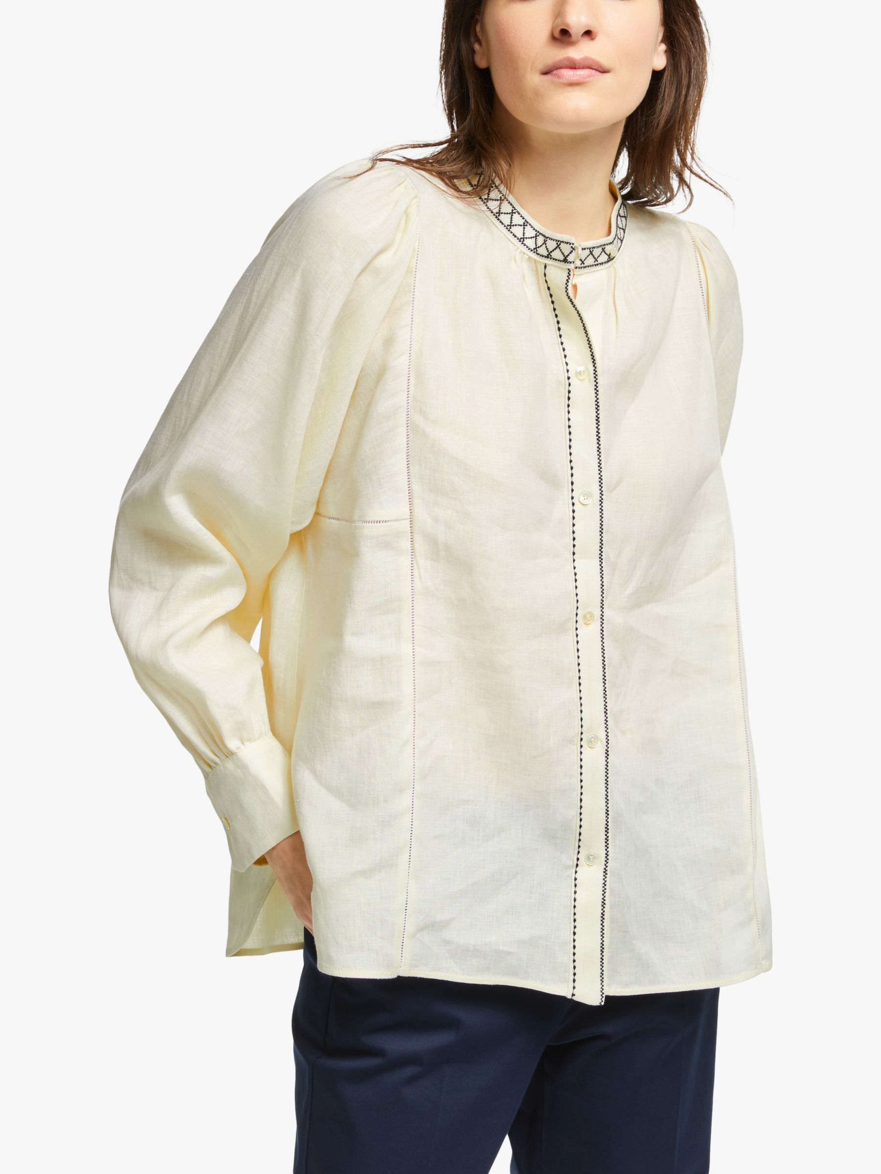 WEEKEND MaxMara Weekend MaxMara Terni Linen Shirt, Ivory