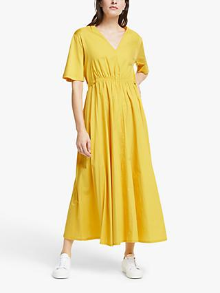 Weekend MaxMara Bairo Cotton Maxi Dress, Yellow