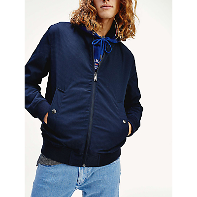 Tommy Hilfiger Reversible Bomber Jacket, Blue Ink