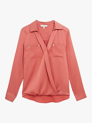 Oasis Satin Wrap Shirt