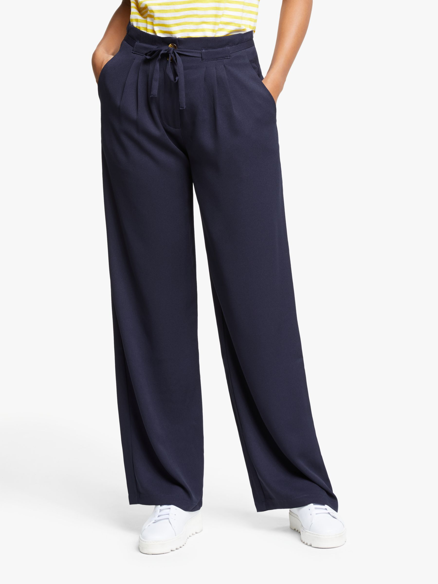 Y.a.s Y.A.S Kirri High Waisted Trousers, Evening Blue