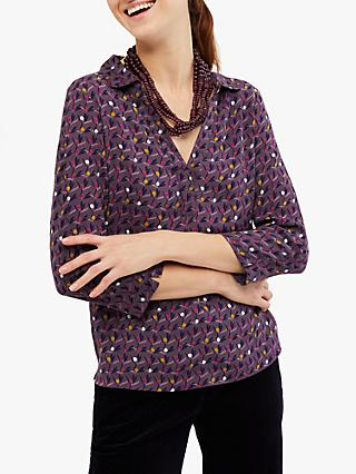 White Stuff Picalilli Jersey Shirt, Grape Purple