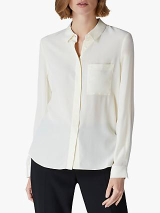 Jaeger Silk Sand Blouse, Ivory