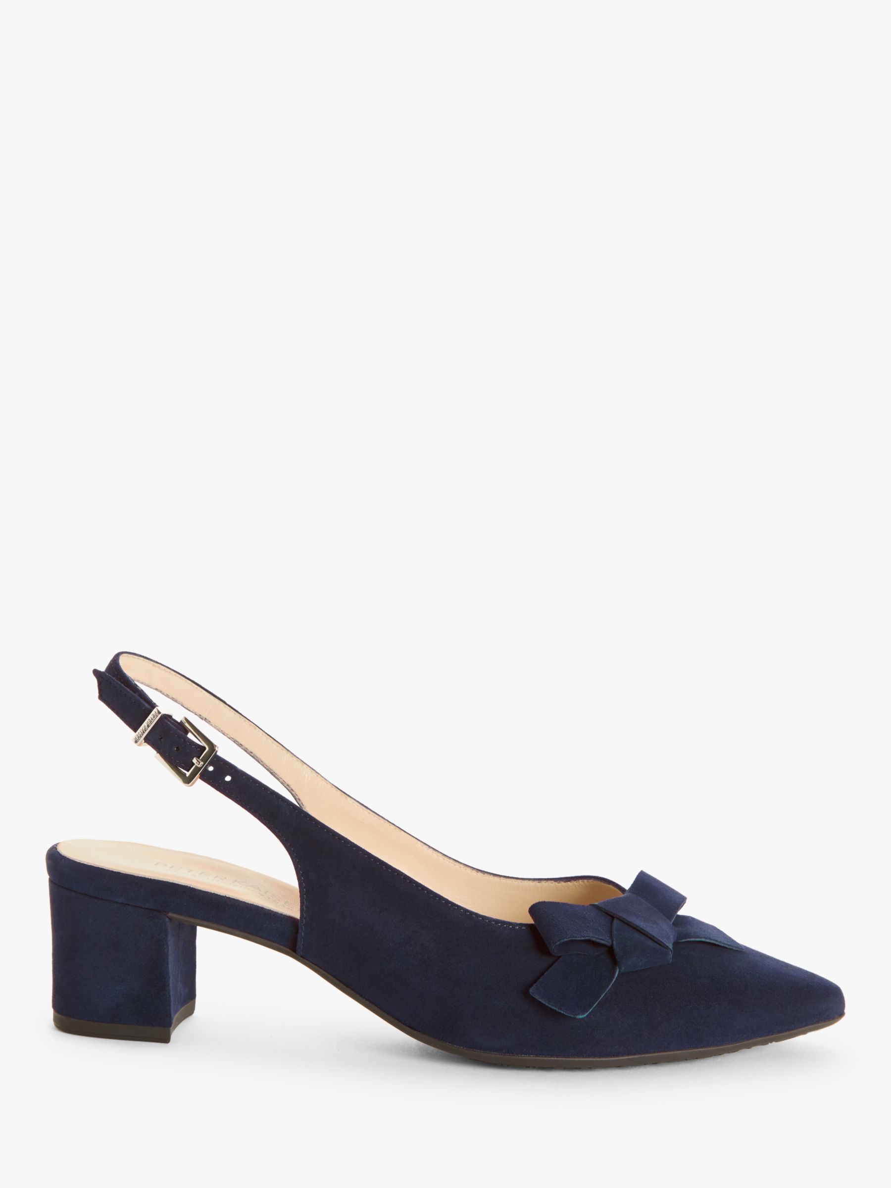 Peter Kaiser Peter Kaiser Shania Suede Bow Slingback Court Shoes, Navy