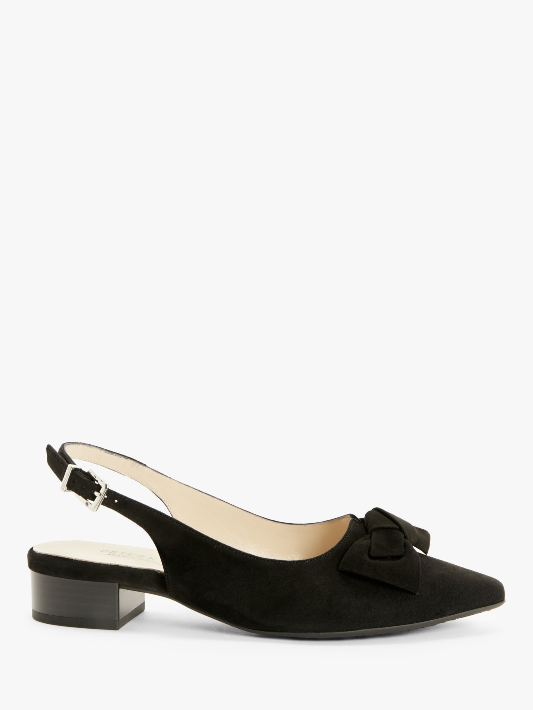 Peter Kaiser Peter Kaiser Adalia Suede Slingback Court Shoes, Black