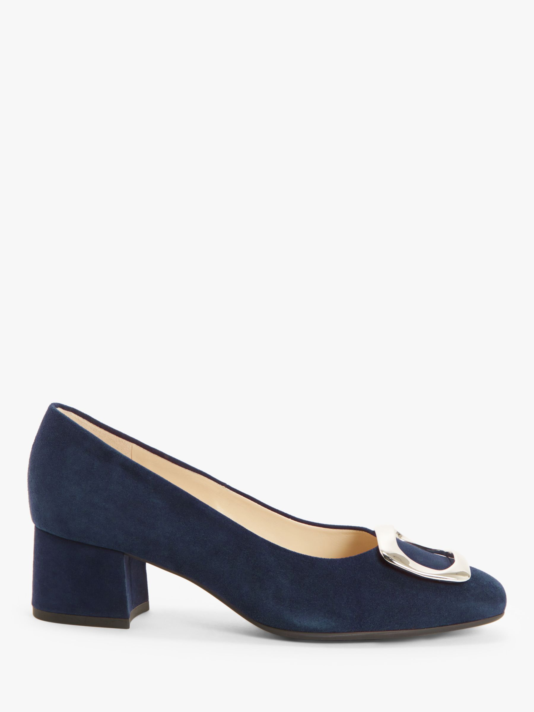 Peter Kaiser Peter Kaiser Pauline Suede Buckle Court Shoes, Navy