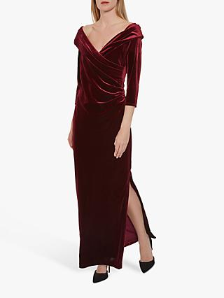 Gina Bacconi Tuva Velvet Maxi Dress