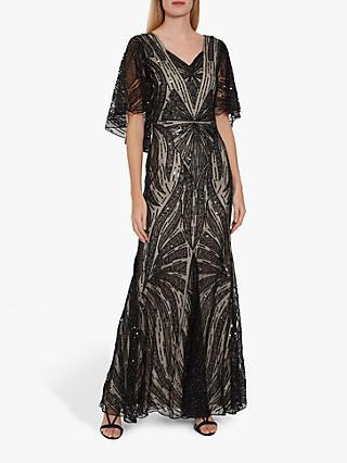 Gina Bacconi Adania Sequin Embellished Maxi Dress