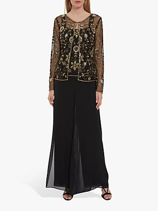 Gina Bacconi Bethia Embellished Sheer Jacket and Cami Top