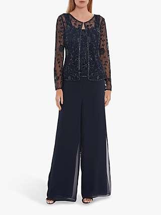 Gina Bacconi Bethia Embellished Sheer Jacket and Cami Top