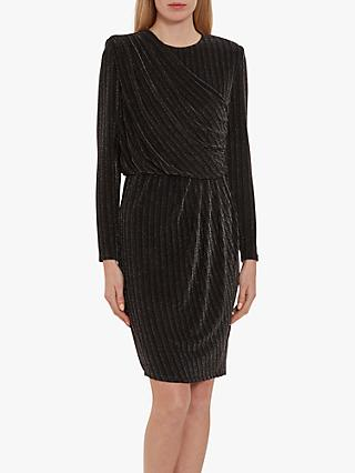 Gina Bacconi Raya Stripe Dress, Black