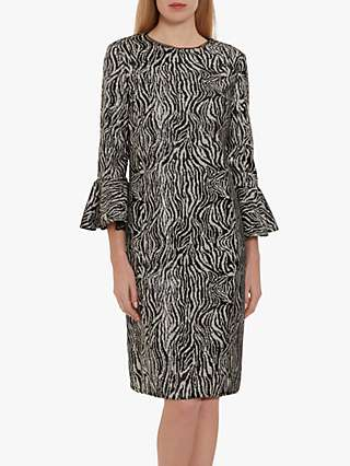 Gina Bacconi Edrie Zebra Sequin Dress
